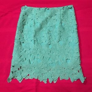 CHIC WISH SKIRT Seafoam Green Lace Chicwish Medium
